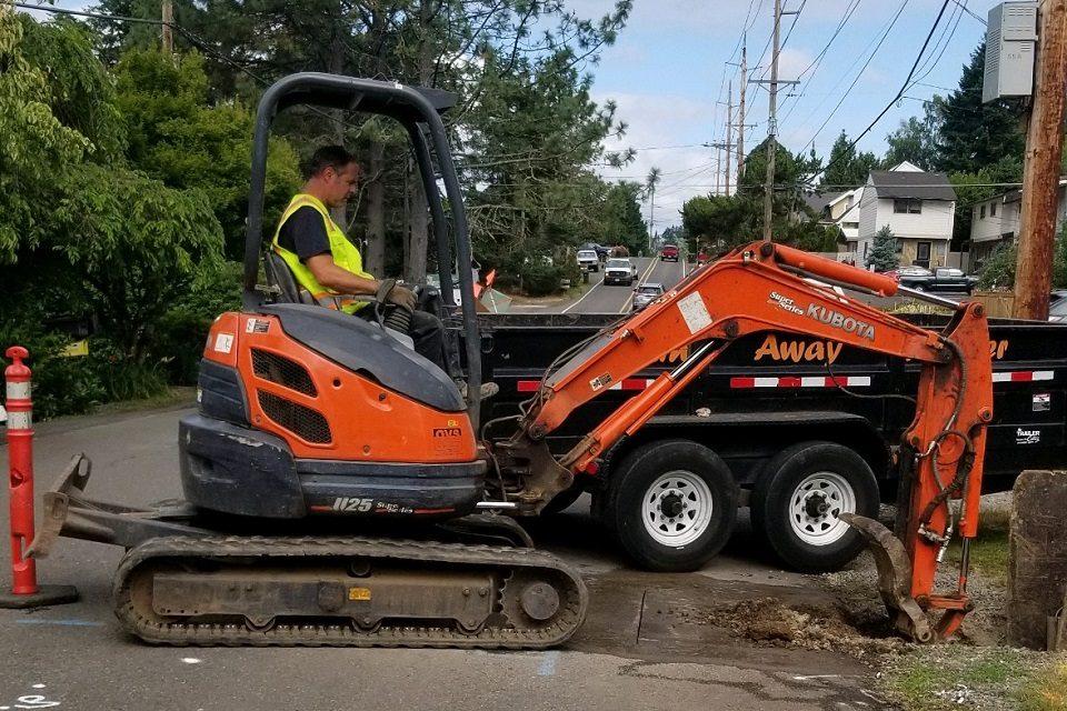 Sewer Repair Excavation